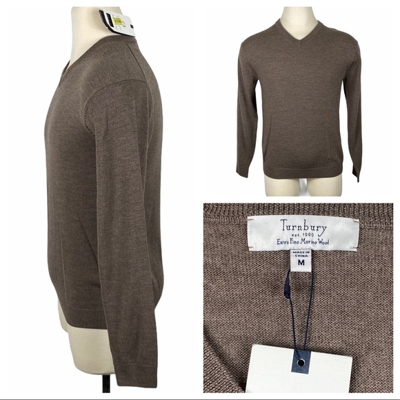 NWT Turnberry Extra Fine Merino Wool Sweater Med NWT